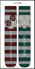Anime Attack on Titan New Garrison Regiment Unisex 2 Pair Crew Cut Socks Cosplay