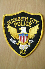 Patches: ELIZABETH CITY NC POLICE PATCH (NEW,apx.3.14x3.6 inch)