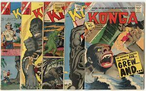 Konga #2, 7, 8, 10, 11, 14, 15, 17, 22, Revenge 2  avg. VG 4.0  Charlton  1961