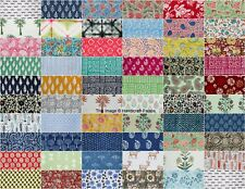 100PCS 10x10inch Hand Block Print Cotton Fabric Patchwork Cloth For Craft Sewing