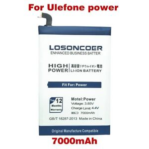LOSONCOER Battery 7000mAh for Ulefone Power Battery For DOOGEE T6 Oukitel K6000
