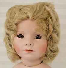 "Wig-Doll-Size 15"" Light Blonde Wig Hand Styled #959"