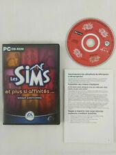Jeu PC VF Les Sims et plus si affinites Disque Additionnel et notice Envoi suivi