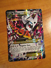 EX MEGA Pokemon M AGGRON EX Card PRIMAL CLASH Set 94/160 XY Ultra Rare 240HP TCG