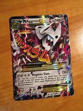 NM MEGA Pokemon M AGGRON EX Card PRIMAL CLASH Set 94/160 XY Ultra Rare 240HP TCG