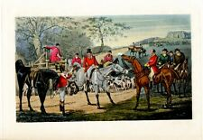 Fox Hunting Sporting Scene Death Survey, Fox Hounds, Horses Sporting Print
