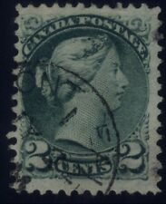 """Canada Small Queen 2 Cents - """"Strand Of Hair"""" - Major Re-Entry (Unlisted) - Fine"""