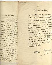Lot de 5 lettres avec signatures LAS de Henri Duvernois (1875 - 1937)