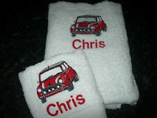 PERSONALISED MINI CAR TOWEL SET