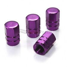 (4) Purple Aluminum Tire/Wheel Pressure Valve Stem CAPS for Auto-Car-Truck-SUV