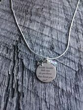 Twinkle Twinkle Little Star Do You Know How Loved You Are Silver Gift Necklace