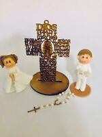 First Communion Or Baptism Set. Cake Toppers.