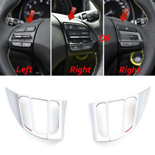 For Hyundai Kona 2018 2019 Chrome Steering Wheel Switch Button Panel Cover Trim