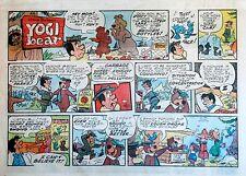 Yogi Bear - Hanna-Barbera TV - large half page Sunday comic - January 3, 1971
