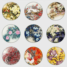 Round Flowers Birds Non-slip Livingroom Kitchen Bathroom Floor Mat Rug Carpet