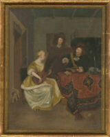 Ben Harris after Gerard ter Borch (1617–1681) - 20th Century Oil, Music Lesson