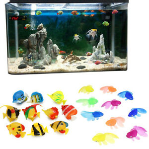 20 x Simulation Fish Vivid Fake Fish Floating Landscape for Fish Tank Decoration