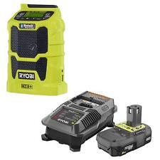 Ryobi P742 18V Cordless AM/FM Radio w/Wireless Bluetooth Technology+ P163 + P190