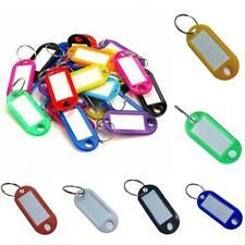Pack of 50 Key Tags Plastic Key Rings ID Tags Name Label Key Fob Tag