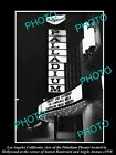 OLD LARGE HISTORIC PHOTO OF LOS ANGELES, THE HOLLYWOOD PALLADIUM THEATER 1950