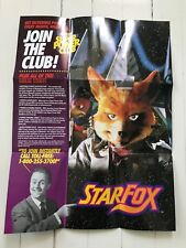 Vintage Nintendo Power StarFox Poster Super Club 11x15