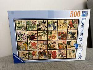 Ravensburger Puzzle 500 Piece Jigsaw Vintage Flora Alphabet Flower Names