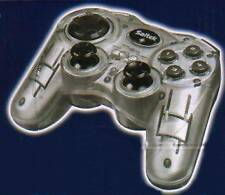 Saitek p580 Gamepad Controller * Dual Analog ARGENTO COME NUOVO