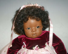 "Annette Himstedt Character Doll Mo Colored Baby Girl 22"" with Box"