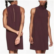 Athleta NEW ! $128 Initiative Dress L LARGE in Auberge Zip Mock Neck RECYCLED
