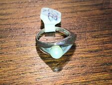 silver & pearl ring Size L 1/2