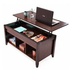Lift Top Coffee Table w/Hidden Compartment and Storage Shelves Furniture,Wooden