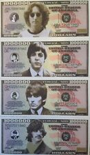 BEATLES FAB FOUR NOVELTY MILLION DOLLAR (4) NOTE SET GREAT GIFT IDEA USA SELLER