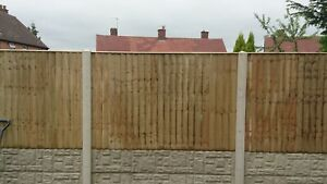 Vertilap Pressure Treated & Tanalised Fence Panel 6ft W x 3ft to 6ft H