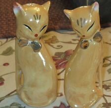 Vintage Lustre / Luster CAT Salt & Pepper Shakers - China - Exc.condition