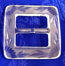 Gorgeous Large Clear Glass Belt BUCKLE