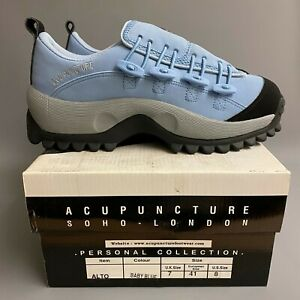 Acupuncture ALTO Sky Blue Suede Lace Guard Chunky Trainers Shoes 90s y2k dust