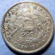 *GUATEMALA, Vintage 1954  5 CENTAVOS SILVER COIN, Fine Circulated NICE COIN