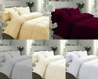 PINTUCK FANCY AFFILIA PLEATED DUVET BEDDING QUILT COVER SET 100% COTTON PERCALE
