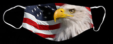 Patriotic American Flag with Eagle Pattern Custom Face Mask 2 Stlyes