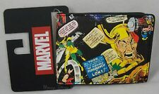 New Marvel Universe Thor & Loki Comic Embossed Bi-Fold Men's Wallet Bilfold
