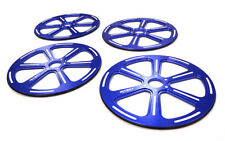 INTEGY RC Car C25935BLUE 89mm Setup Wheel (4) for 1/8 On-road GT, GT8, Touring