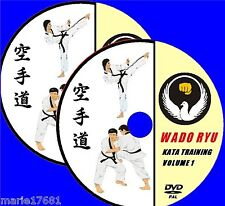 WADO RYU KARATE KATA TUTORIAL TRAINING DEMONSTRATIONS  2 DVD VIDEOS MARTIAL ARTS
