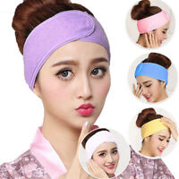Women Cotton Make Up Hair Band Wrap Wide Headband Spa For Bath Shower Yoga Sport