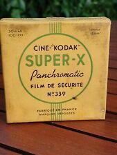 Kodak Super X de 1945's Panchromatic No 339 16mm jamais utilisé film DE sécurité