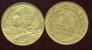 20 centimes 1971    marianne
