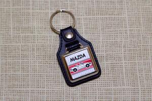 Mazda MX5 Keyring - Miata / Eunos Leatherette and Chrome Keytag