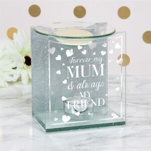 Sparkle Tea-light Wax/Oil Melt Burner Forever My Mum Ideal Gift for Any Occasion