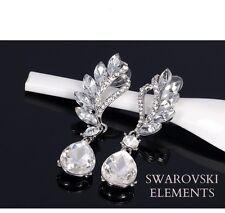 boucles d'oreilles Swarovski® Elements larme luxe design vintage TRANSPARENT