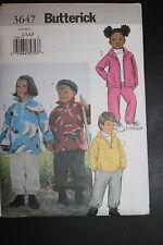 Butterick Pattern #3647 Childrens Jacket, Top & Pants - size 2-5 - boys/girls
