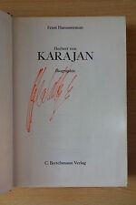 """Herbert von Karajan Autogramm signed Taschenbuch """"Biografie"""""""